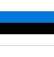 estonian flag vector image vector image