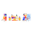 female lgbt couples or family set isolated scene vector image