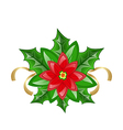 Flower poinsettia for christmas decoration vector image vector image
