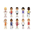 Football team sport soccer players group vector image vector image
