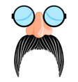 funny mask image vector image vector image