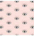 funny opened eyes pattern simple cute vector image