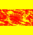 glowing exploded background of red and yellow vector image vector image