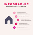 home instagram interface solid icon infographics vector image vector image