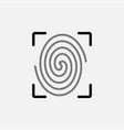 icon fingerprint identity verification vector image