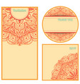 invitation cards set template design elements in vector image