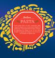 italian pasta template vector image