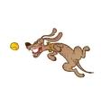 Jumping cheerful dog vector image