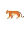 large orange tiger side view wild animal vector image