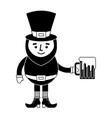 leprechaun character holding beer vector image vector image