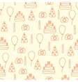 line art style happy birthday seamless vector image vector image
