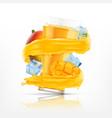 mango juice splash vector image vector image