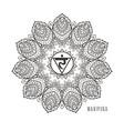 manipura third chakra black vector image