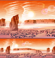 martian wind storms vector image vector image