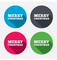 Merry christmas text sign icon Present symbol vector image