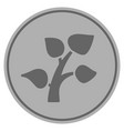 plant sprout silver coin vector image vector image