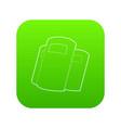 police shields icon green vector image vector image