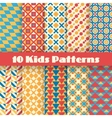 Retro kids seamless patterns Endless vector image