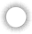 Round banner of pixels Differing halftone ring vector image