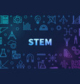 science technology engineering and math colored vector image vector image