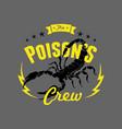 scorpion crew vector image