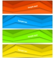 Set of abstract lines banners vector image vector image