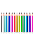Set of Coloful Sharpened Pencils vector image