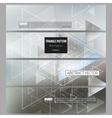 Set of modern banners Abstract blurred vector image vector image