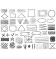 sketch shapes monochrome scribble symbols vector image vector image