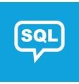 SQL message icon vector image vector image