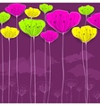 Stylized flowers card vector image