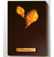 Thanksgiving - black greeting card design vector image