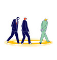thoughtful business men walking in circles vector image vector image