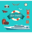Tourism concept image sea vacation flat vector image vector image