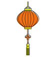 traditional chinese lantern in a flat style vector image