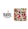 travel to spain greeting card for your design vector image vector image