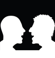 two people arguing silhouette vector image