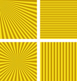 Yellow brown simple striped wallpaper set vector image vector image