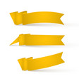 yellow ribbons banners vector image vector image