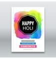 Holi festival poster Template for flyer brochure vector image