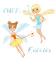 cute cartoon fairies vector image