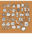 Set of doodle web computer and drawing icons vector image