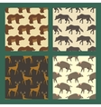 Set of seamless patterns with wild european vector image