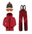 Skiing clothes icons vector image