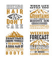 adventure camping hiking set bundle quote best vector image