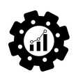 bar graph chart icon image vector image vector image