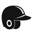 baseball helmet icon simple style vector image