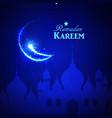 beautiful holy festival eid and ramadan background vector image
