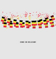 belgium garland flag with confetti vector image vector image