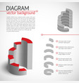 business gray diagram template vector image vector image